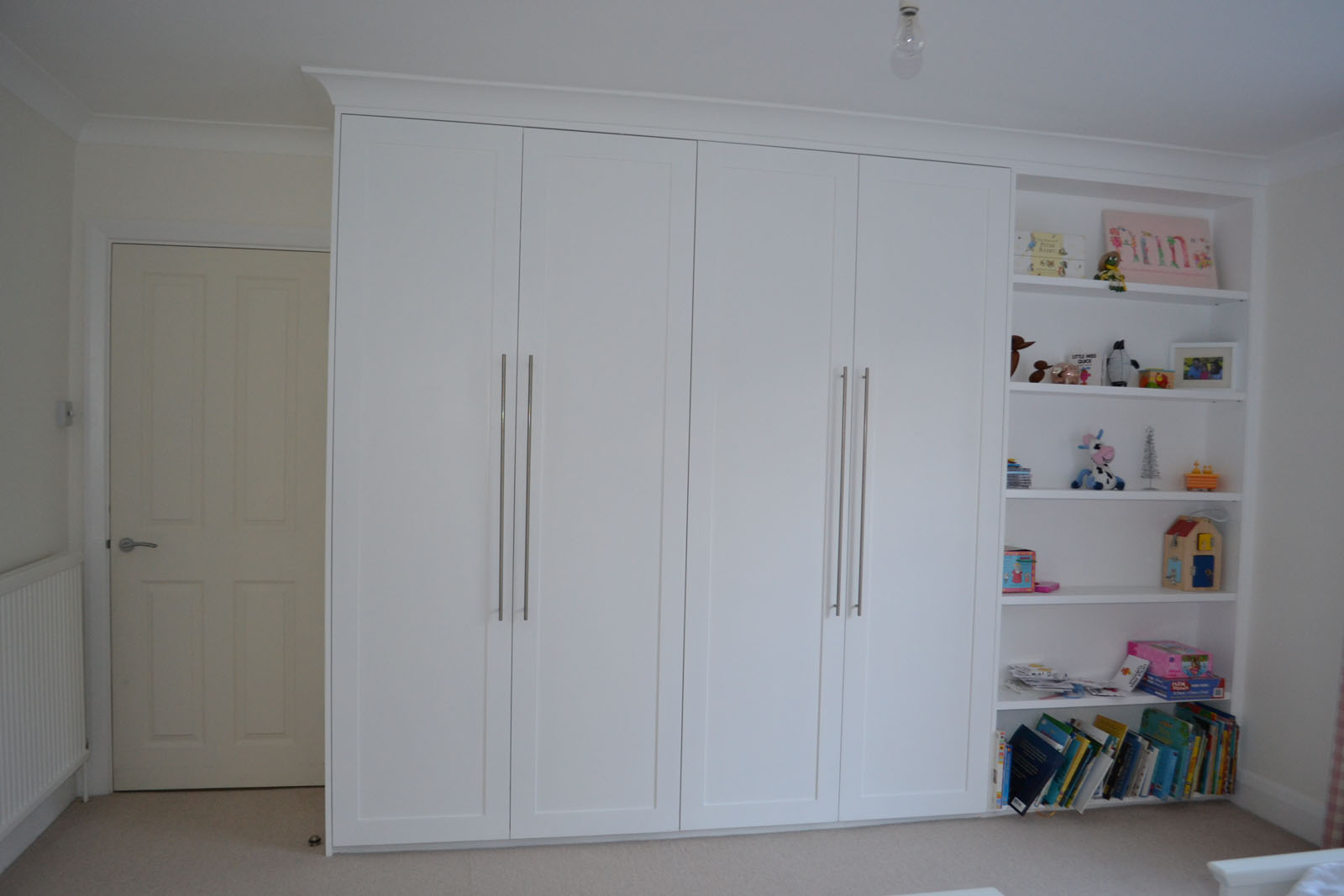 White bespoke fitted wardrobes