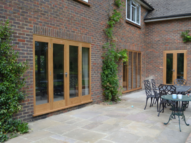 Bespoke oak patio doors