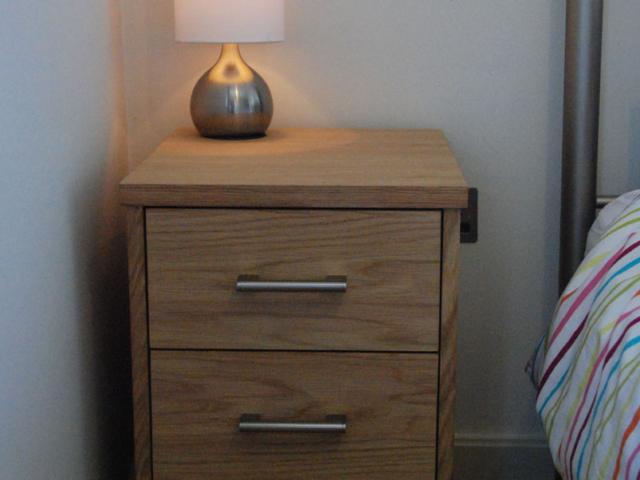 Bespoke oak bedside cabinet