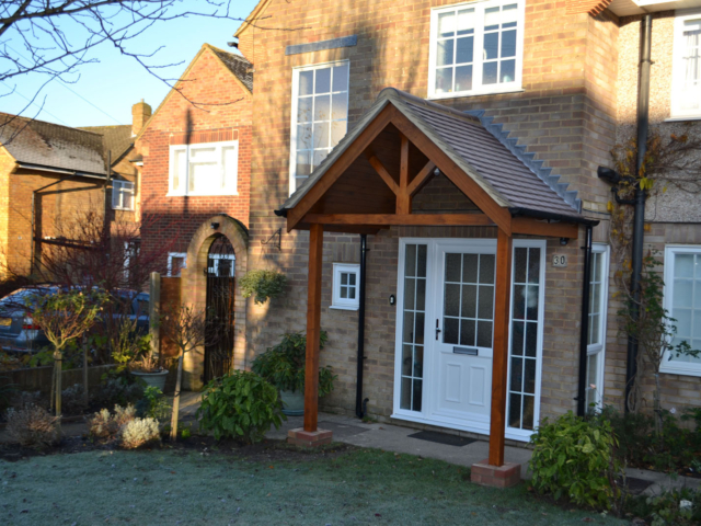 Bespoke wooden porch
