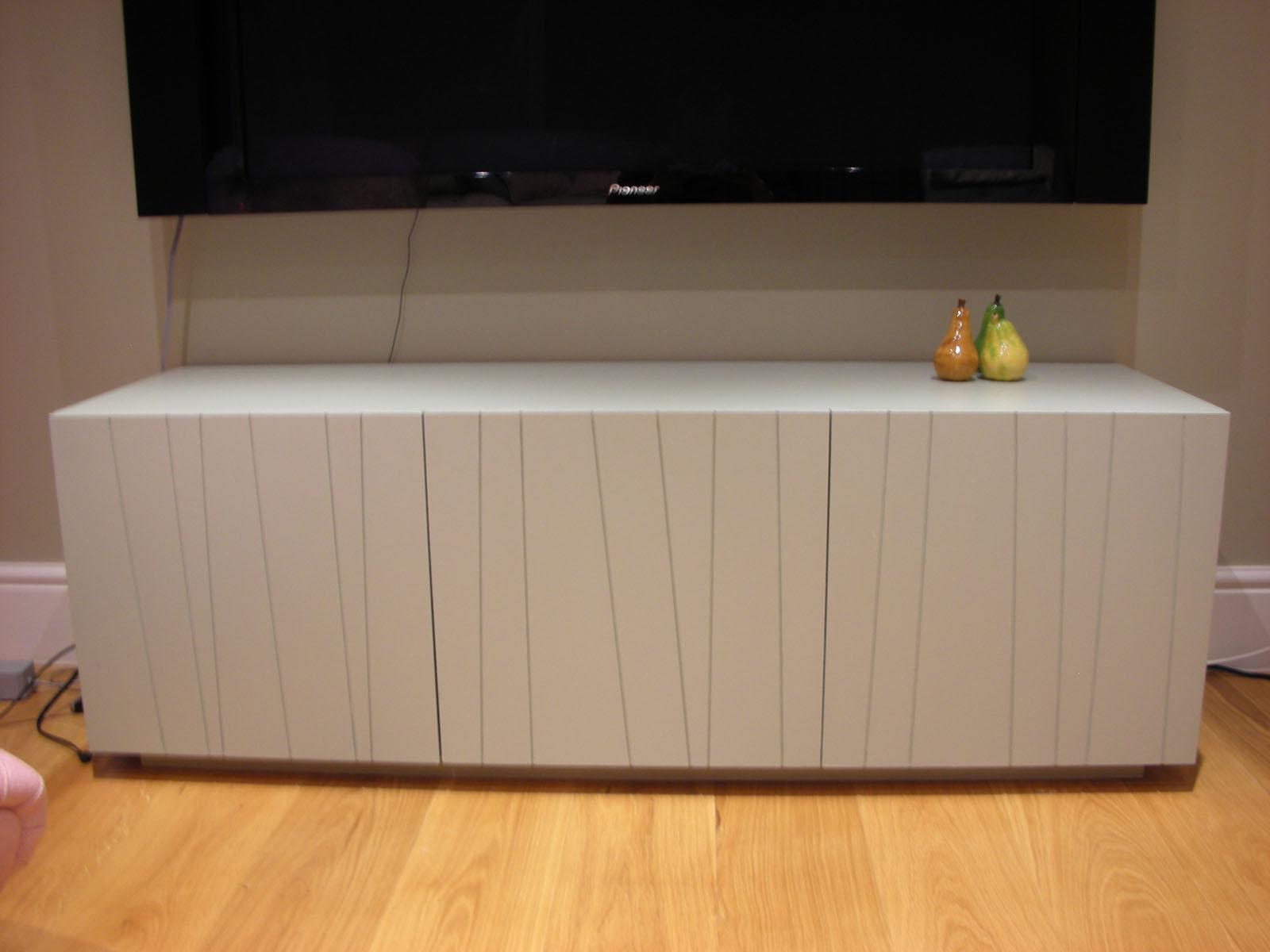 Bespoke free-standing TV storage unit