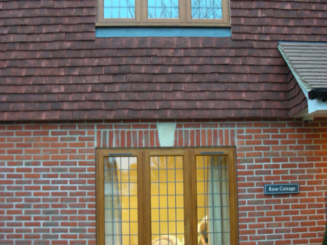 Custom-made oak windows
