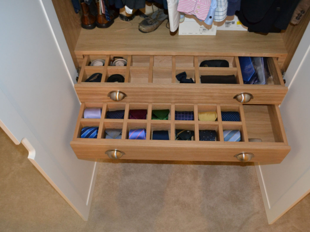 Made to measure fitted wardrobe draws