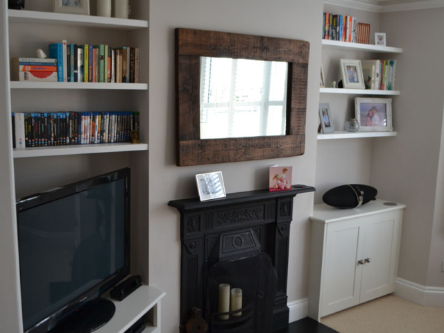 Bespoke fitted living room storage units