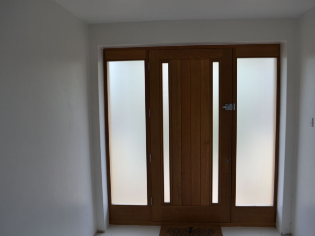 Bespoke oak front door