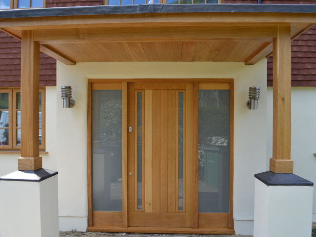 Bespoke hardwood porch