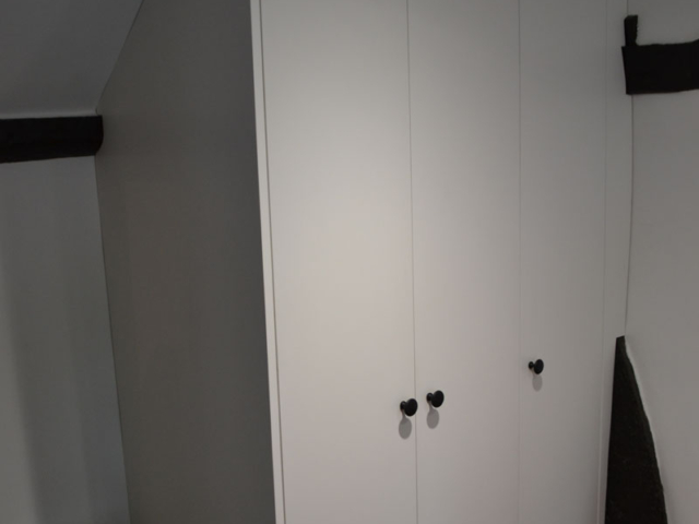 Fitted white wardrobes