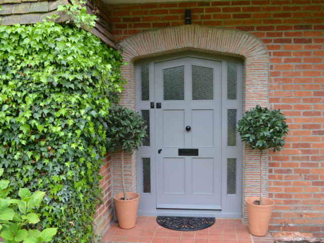 Bespoke wooden front door