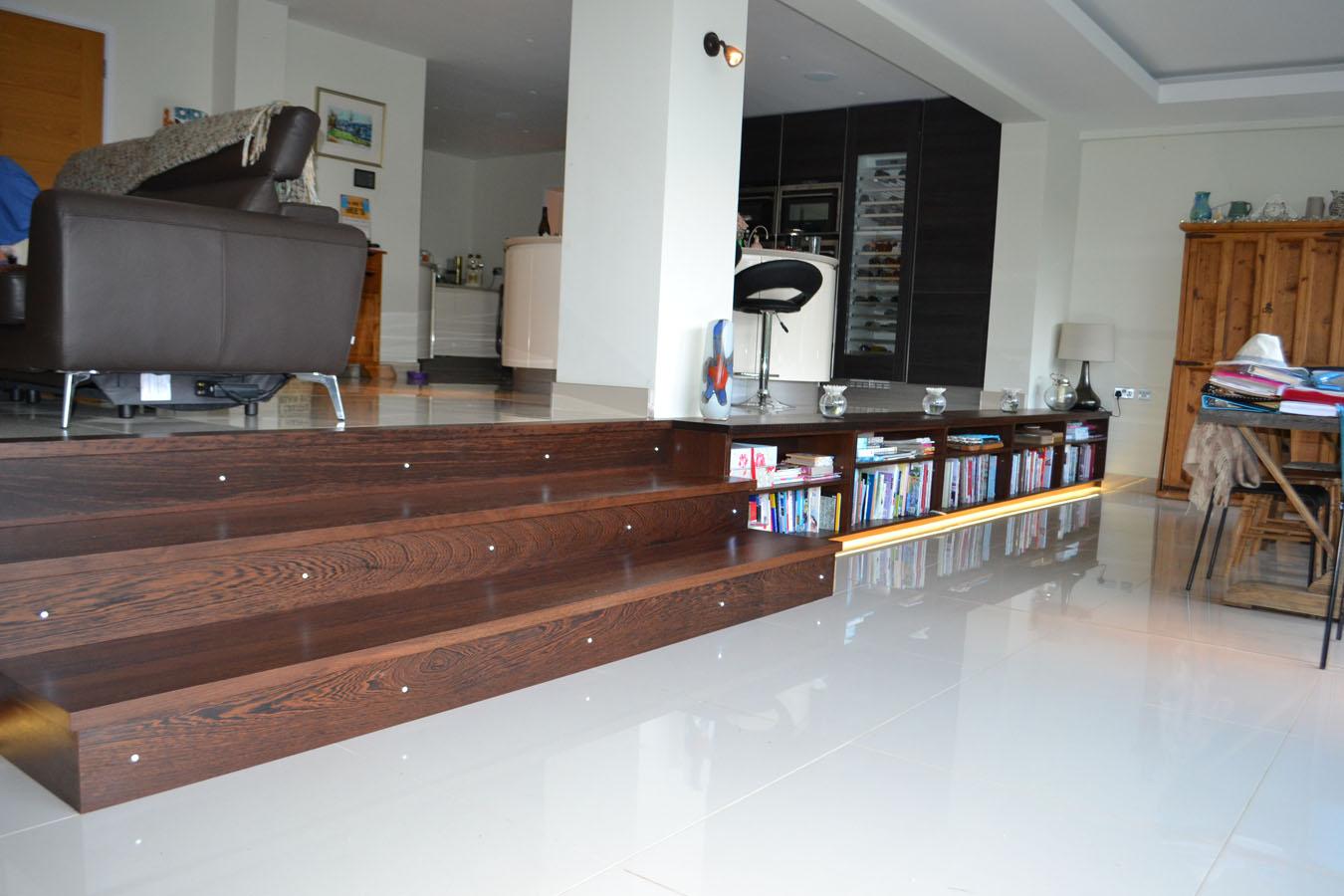 Custom-made fitted internal steps