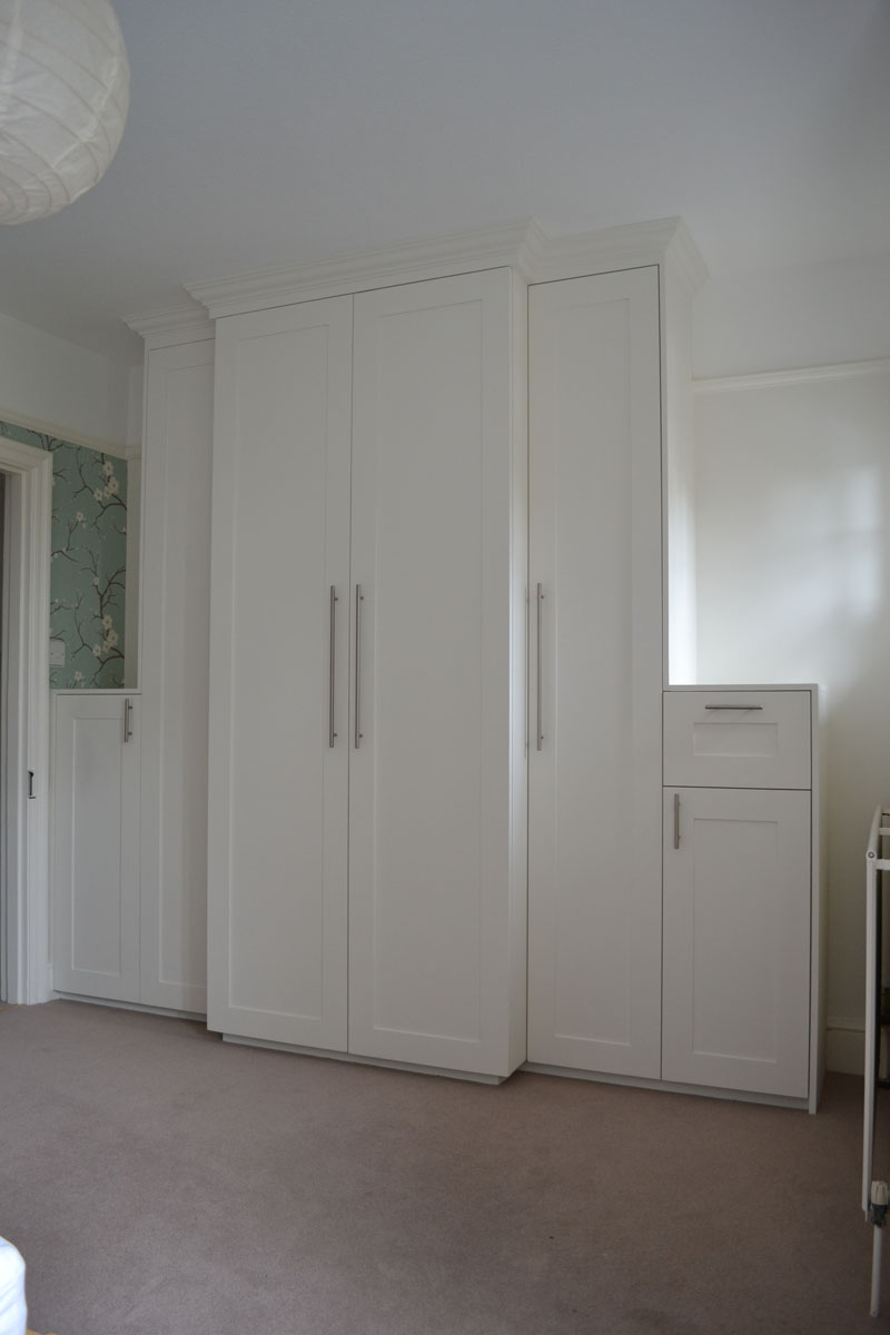 Luxury fitted white wardrobes