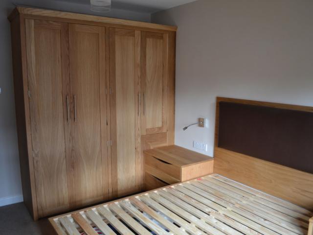 bespoke fitted oak wardrobes