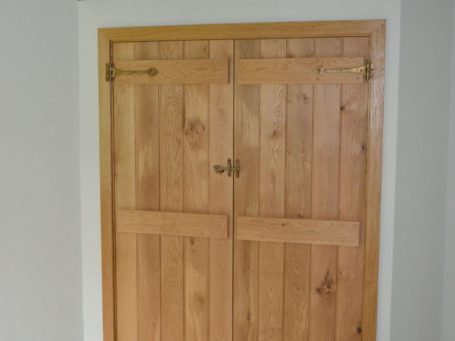 Bespoke oak internal double doors
