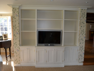 Bespoke fitted TV and storage units