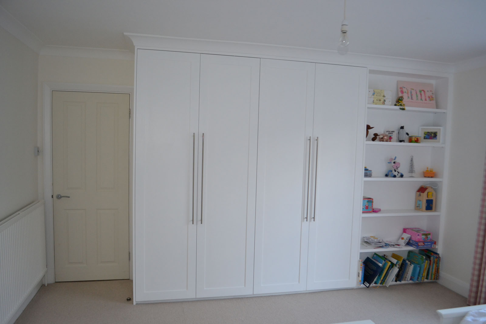Handcrafted bedroom wardrobe