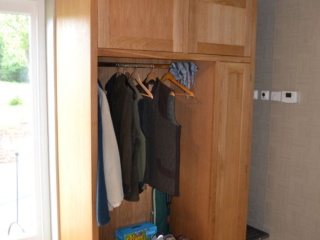 Bespoke fitted hallway storage cupboards