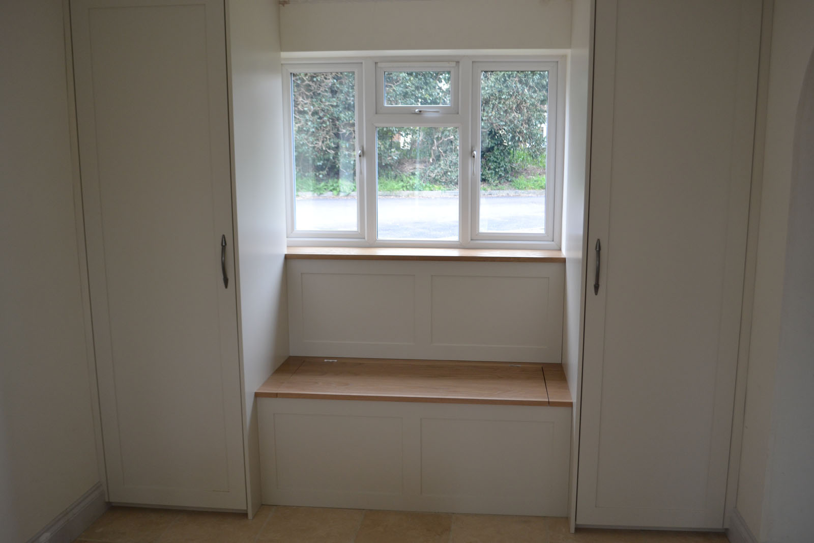 Made to measure window seat with storage