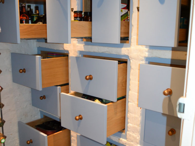 Bespoke fitted pantry storage units