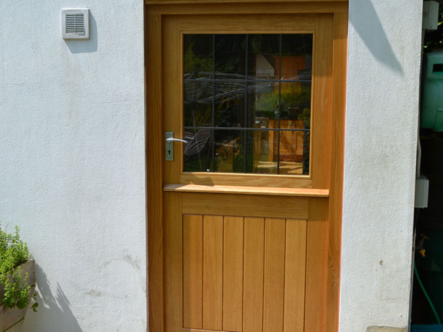 Bespoke oak stable back door