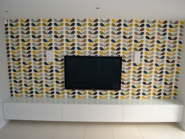 Bespoke fitted TV/CD storage units