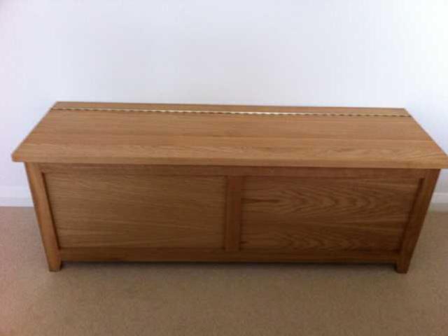 Handmade oak storage unit