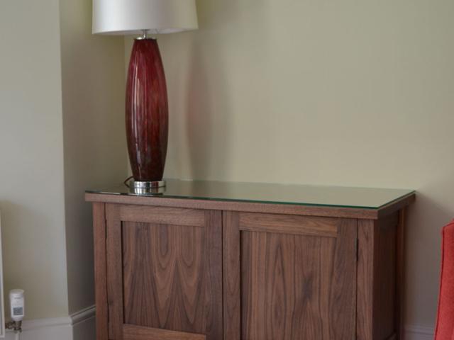 Bespoke walnut sideboard