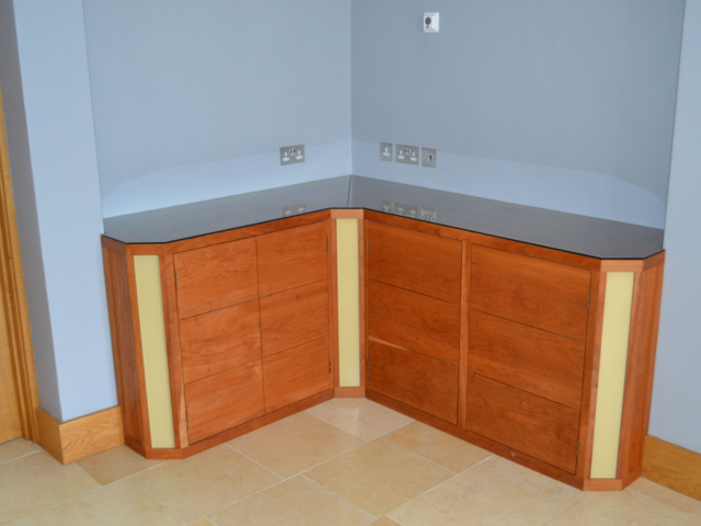 Bespoke fitted oak storage units