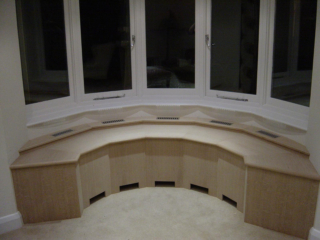 Bespoke fitted window seat with storage