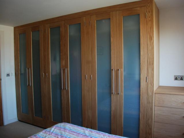 Made to measure oak wardrobe doors