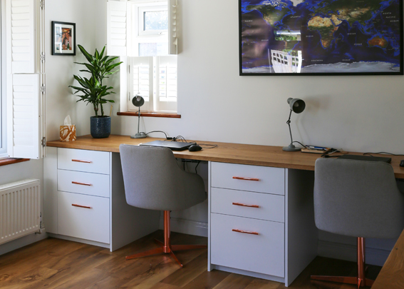 Bespoke fitted home offices - Surrey, Sussex, London