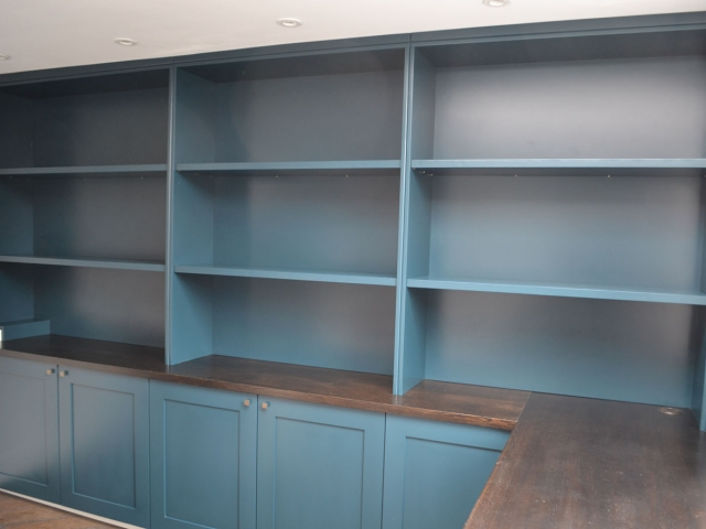 Fitted office shelving