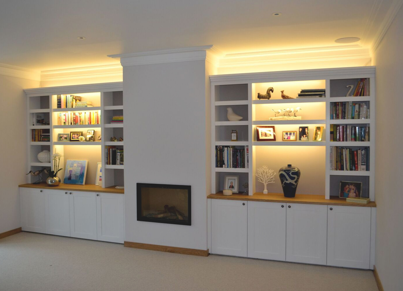 Handmade shelving and cupboards