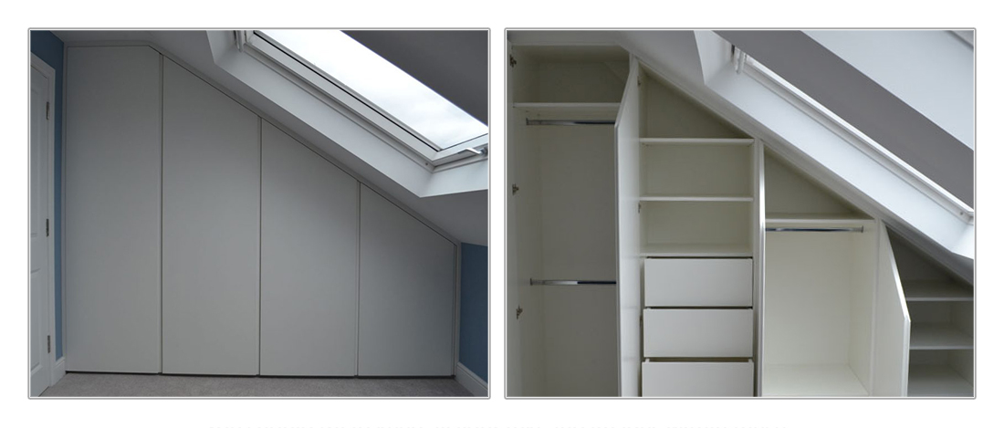 buy popular ad310 4b9f3 Bespoke fitted wardrobes for loft bedrooms and sloping ...