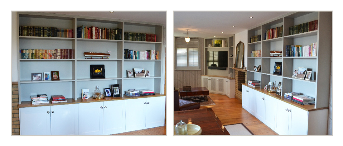 Bespoke living room fitted furniture