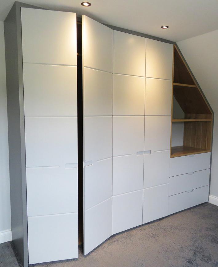 Handcrafted bedroom wardrobe