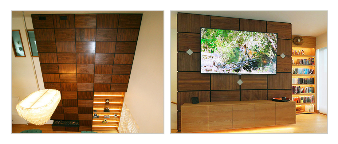 Bespoke fitted living room wall units