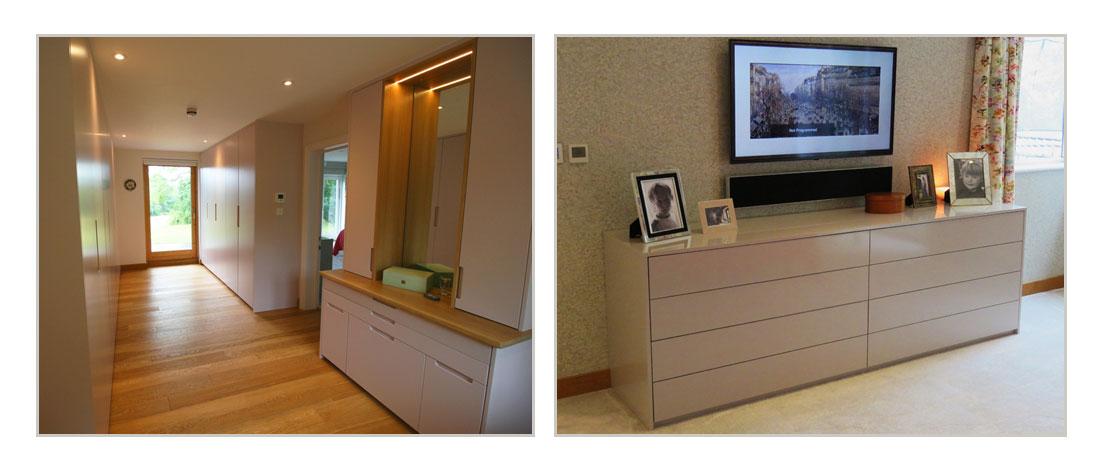 Bespoke modern dressing room