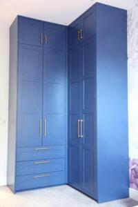 bespoke tall corner wardrobe