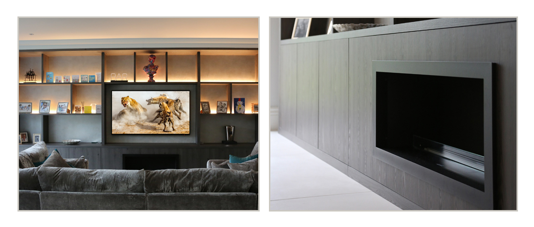 Bespoke built-in wall to wall media unit